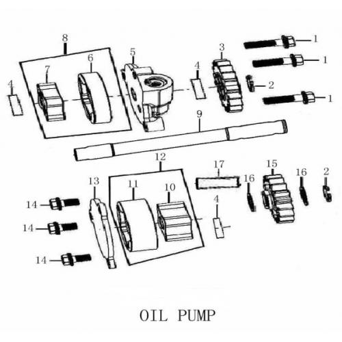 FSE 250R OIL PUMP