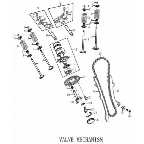 FSE 250R VALVE MECHANISM